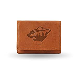 NHL Minnesota Wild Embossed Genuine Leather Trifold Wallet