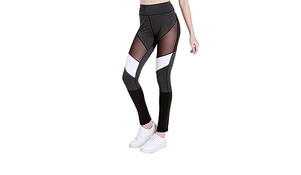 Leisial Pantalón Largos Fitness para Mujer - Pantalón de ...