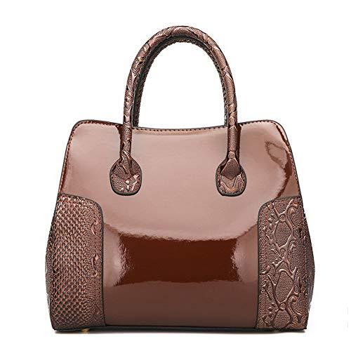 FBUIBD181222 tracolla Moda Casuale Tote Borse tracolla a Donna Style Chiaretto Marrone a AllhqFashion Borse 0qpP1y
