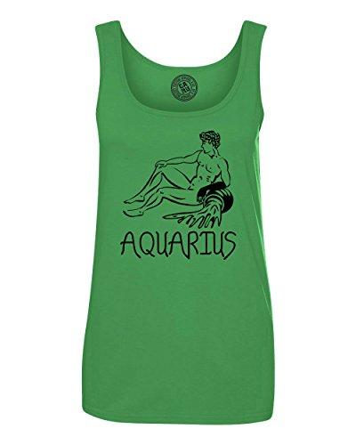 Aquarius Zodiac Signs Birthday Womens Tank Top T Shirt Green Apple Small ()