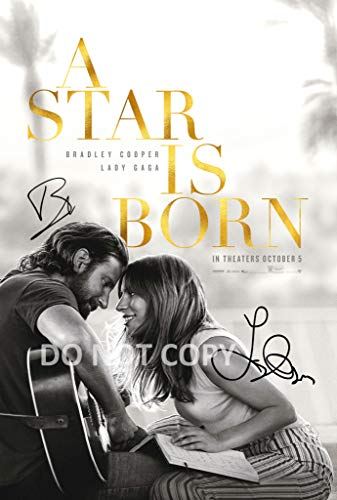 A Star is Born reprint signed autographed 12x18 movie poster photo Lady Gaga Bradley Cooper RP