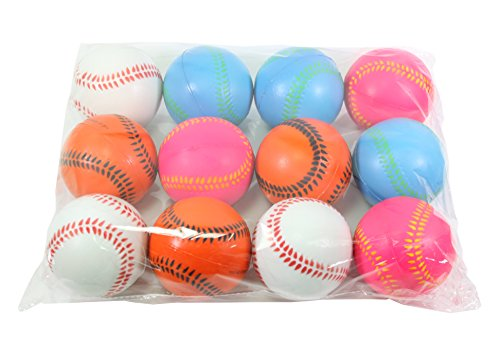12 Big Baseball Hand Wrist Finger Exercise Stress Relief Therapy Squeeze (Custom Stress Ball)