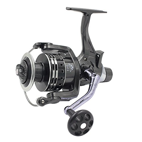 LU2000 KN6000 Pike Carp Reels Baitrunner Spinning Fishing Reel with Front Drag and Rear Drag 11+1 BB Ball Bearing 4.7:1 (KN ()
