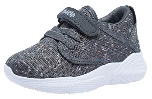 COODO CD3001 Toddler Kid's Sneakers Boys Girls Cute Casual Running Shoes Slate GREY-10