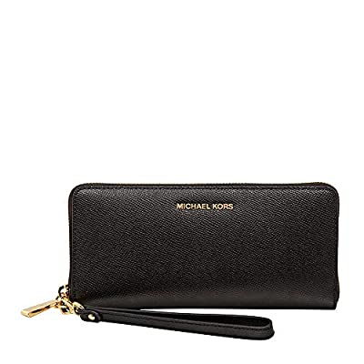 Michael Kors Womens Jet Set Travel Continental Leather Wallet