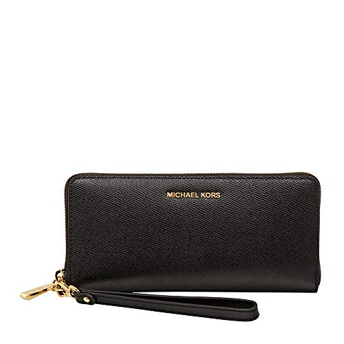 Michael Michael Kors Womens Jet Set Travel Continental Leather Wallet