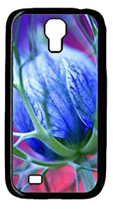 Cool Painting Blue Flowers Thorns Polycarbonate Hard Case Cover for Samsung Galaxy S4/I9500