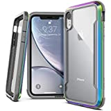 "X-Doria Defense Shield Series, iPhone XR Case - Military Grade Drop Tested, Anodized Aluminum, TPU, and Polycarbonate Protective Case for Apple iPhone XR, 6.1"" inch LCD Screen (Iridescent)"