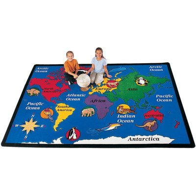 Geography World Explorer Kids Rug Rug Size: 5'10'' x 8'4'' by Carpets for Kids
