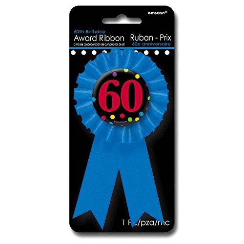 Amscan 60th Birthday Award Ribbon, 6 Ct. -
