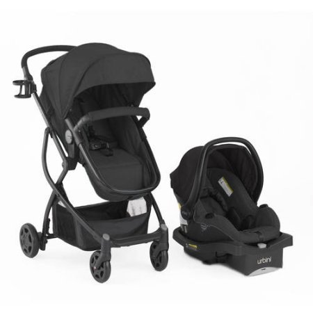 Price comparison product image Urbini Omni Plus Travel System Jogging Stroller Black