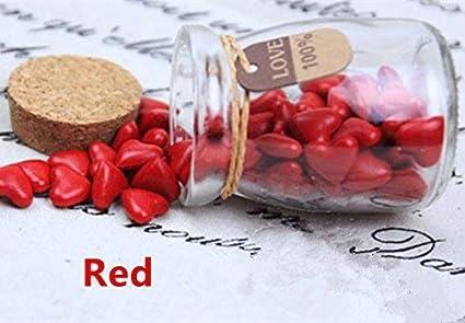 mdlg Vintage 90pcs rojo forma de corazón cristal embotellada para sellado con cera Sello invitaciones de