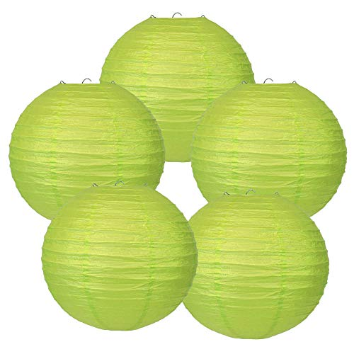 - Just Artifacts 10-Inch Light Green Chinese Japanese Paper Lanterns (Set of 5, Light Green)