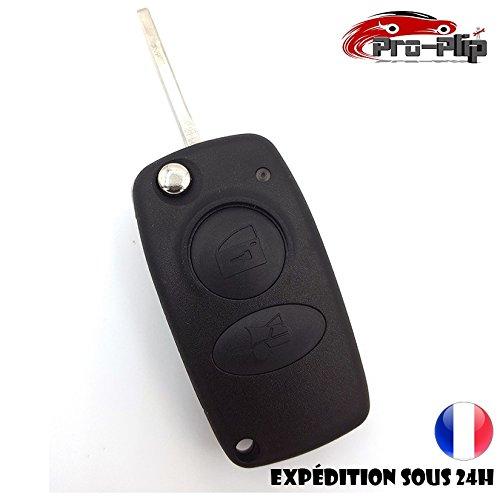 Pro-Plip - Llave para Alfa Romeo 147,156,166,Spider, 2botones, mando a distancia rectangular 156 166 Spider 2botones