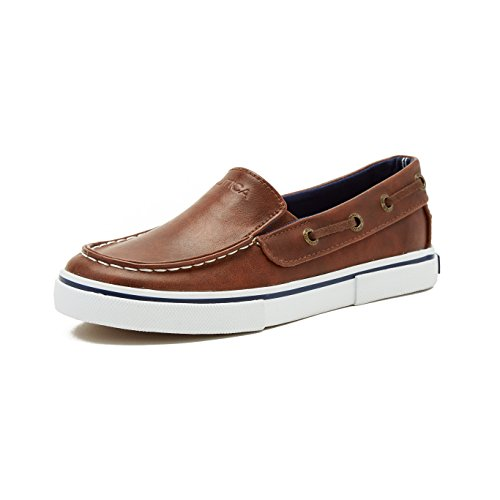 Pictures of Nautica Boy's Doubloon Slip-On Shoe Brown Tumbled Pu 1