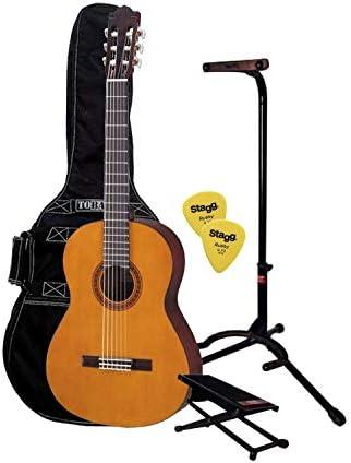 Pack C40 – Pack guitarra clásica 4/4 con 1 funda, 1 descansa pie y ...