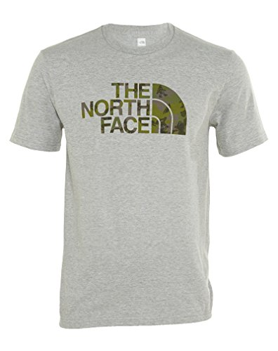 Camiseta The North Face S / S Wander Camo Para Hombre Heather Grey