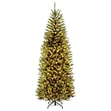 National Tree 7.5 Foot Kingswood Slim Fir Tree with 450 Dual Color LED Lights and PowerConnect 9 Function System, Hinged (KW7-D52-75)