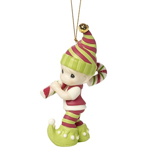 Precious Moments Holiday Christmas Bisque Porcelain Hanging Ornament with S-Hook (Wishing You The Sweetest Holiday, 171014)