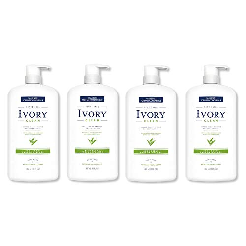 Ivory Clean Aloe Body Wash, 30.0 Fluid Ounce (Pack of 4)