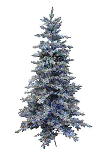 Holiday Bright Lights 9' Snowy Majestic Artificial Christmas Tree,  Multi-Color Cluster LED - Amazon.com: Holiday Bright Lights 9' Snowy Majestic Artificial