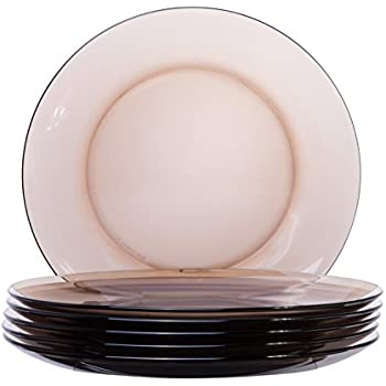 Classic Round Glass 6-Piece Dinner Plate Set 9-inches Taupe Brown  sc 1 st  Amazon.com & Amazon.com | Set of 4 Melamine 9"|350|350|?|e0aaac452f1830d925b2ae61aec69e1f|False|UNLIKELY|0.307498574256897