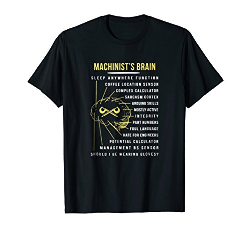 Machinist's Brain Funny T Shirt