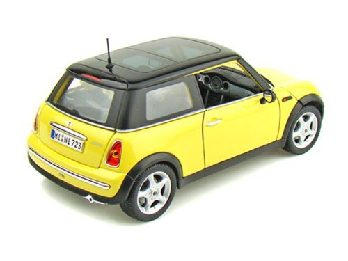 Maisto maisuto mini cooper mini cooper with sun roof 1 18 yellow ma31656 yw minicar die cast Mini cooper exterior accessories