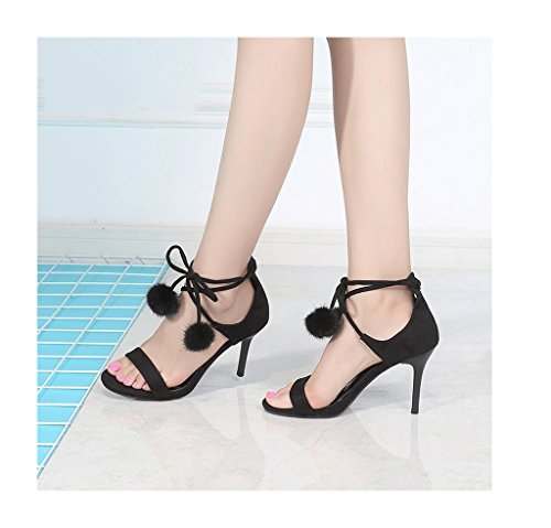 Hyvät Koko 35 väri Sidottu Kesä Korkokengät Kengät Musta Unelma Makeita Vintage Naisellinen Sandaalit POH0UqUwp