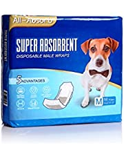 All-Absorb A25 Male Dog Wrap, 50 Count, Medium , White