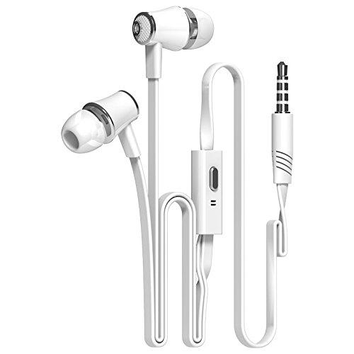 Earphones with Microphone by Sllik Stereo Headphones In-Ear Earbuds Mic by Sllik