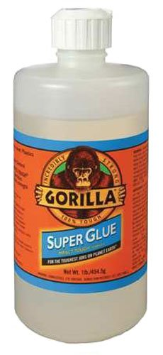 Gorilla Super Glue, Large 1 Pound Bulk Bottle, Clear by Gorillia