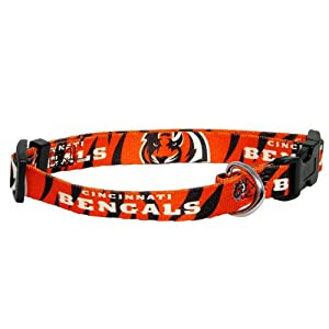 Hunter MFG Cincinnati Bengals Dog Collar, Medium