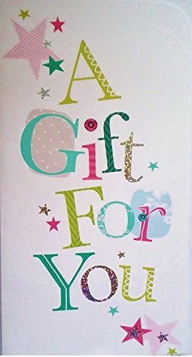 """/""""A Gift For You/"""" Money//Gift Card//Voucher Wallet Greetings Card"""