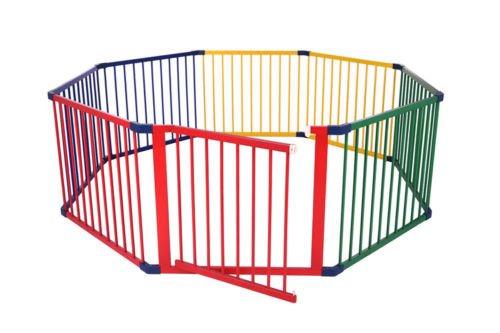 Schutzgitter - aus 8 Module (wie rundes Absperrgitter) MULTICOLOR (G) Fun Baby