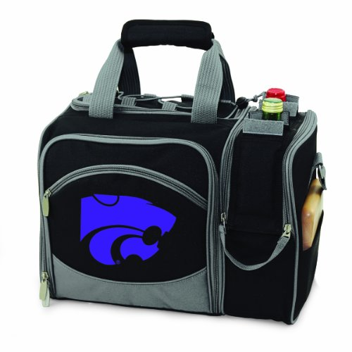 NCAA Kansas State Wildcats Malibu Picnic Tote with Deluxe Picnic Service for Two - Time Picnic Bag Beach Deluxe
