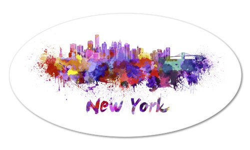 City Sticker - New York Colorful Vinyl Sticker - Car Phone Helmet - SELECT SIZE
