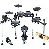 Full Compass SURGEMESHKIT-K - 8-Pc Electronic Drum Kit w/Mesh Heads, 12-Pairs 5A Drumsticks