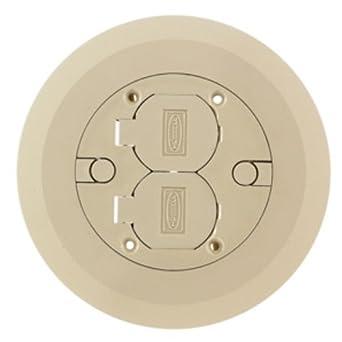 6-1//4 in Brass Round Floor Box Cover
