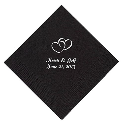 Personalized Cocktail, Beverage or Dessert Wedding Napkins (250)