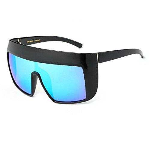 Frauen C6 Sonnenbrille Retrobrille KXLEB Sonnenbrille C7 Flat Top Oversize Acetat Quadrat vwqA0t