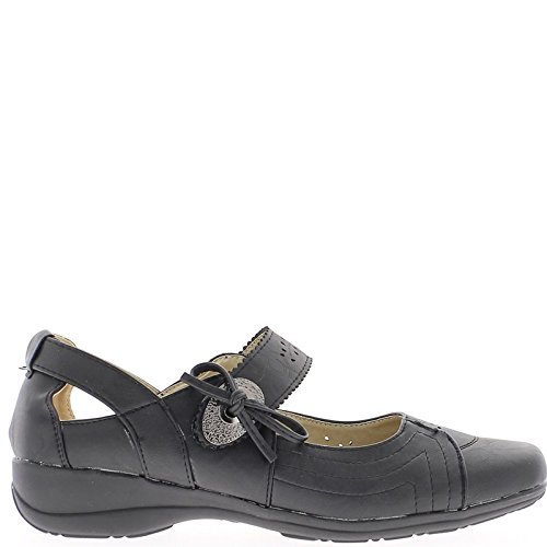 Nodo di arredamento arioso di scarpe comfort nero donna