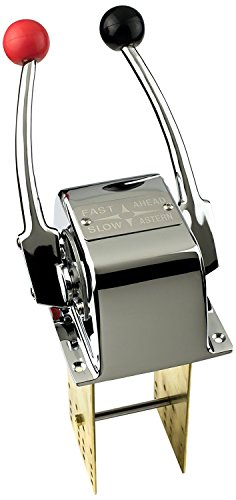 Pactrade Marine Twin Lever Engine Control Made Of Chrome Plated Brass For (Twin Lever Control)