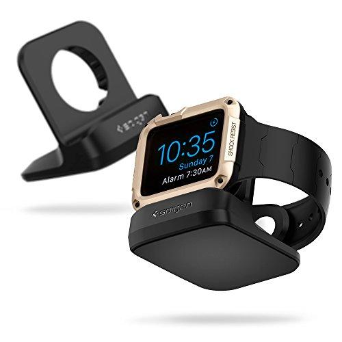 Spigen S350 Apple Watch Stand With Night Stand Mode for Apple Watch Series 3 / Series 2 / Series 1 / 42mm / 38mm, Patent Registered - Black