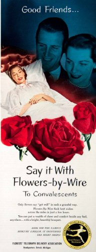 legraph Delivery FTD Detroit Wire Convalescents Bouquet Rose - Original Print Ad (Ftd Rose Bouquet)