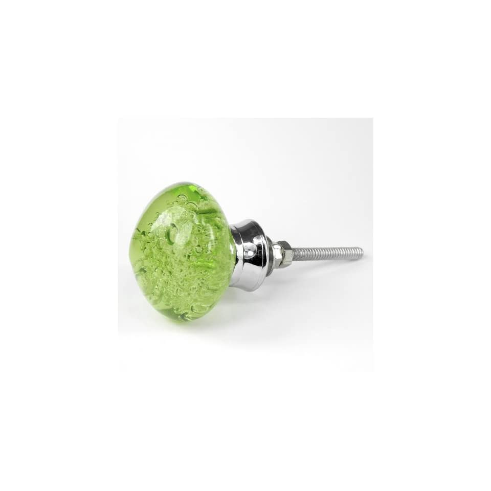 Sage Green Bubble Glass Cabinet Knobs, & Drawer Pulls Set/10pc ~ K134 Classic Modern Contemporary Style Polished Glass Knobs for Cabinets, Dresser, Kitchen Cabinets and Cupboards