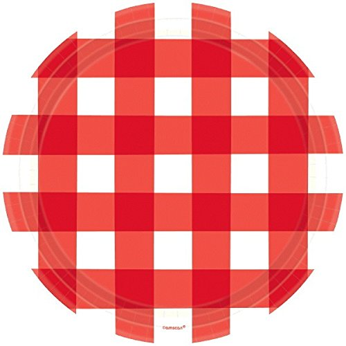 (Amscan American Summer Party Gingham Plates, 10.5