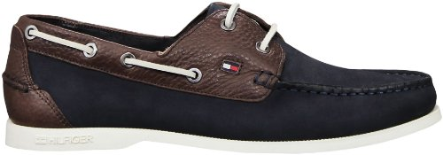 finest selection 351ec 6df1e Tommy Hilfiger Chino Leather Boat Shoe Blue Multi (EU 44 ...