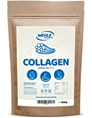 Collageen poeder 1 kg - collageen hydrolysaat peptide - eiwitpoeder I Wehle Sports Made in Germany collageen type 1 2 3 lift drank