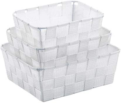 kela 23009 Caja de almacenaje Cesta de almacenaje Blanco Rectangular Polipropileno (PP) - Cajas de almacenaje (Cesta de almacenaje, Blanco, Rectangular, Polipropileno (PP), Monótono, Interior): Amazon.es: Hogar